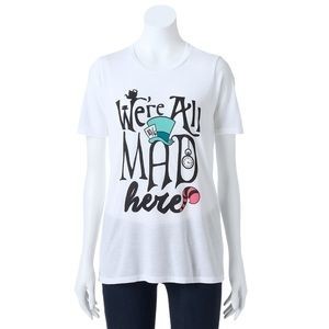 Disney We're All Mad Here Short Sleeve Shirt